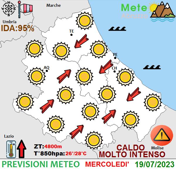 previsioni meteo Abruzzo domani