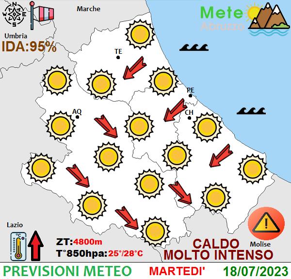 previsioni meteo Abruzzo oggi