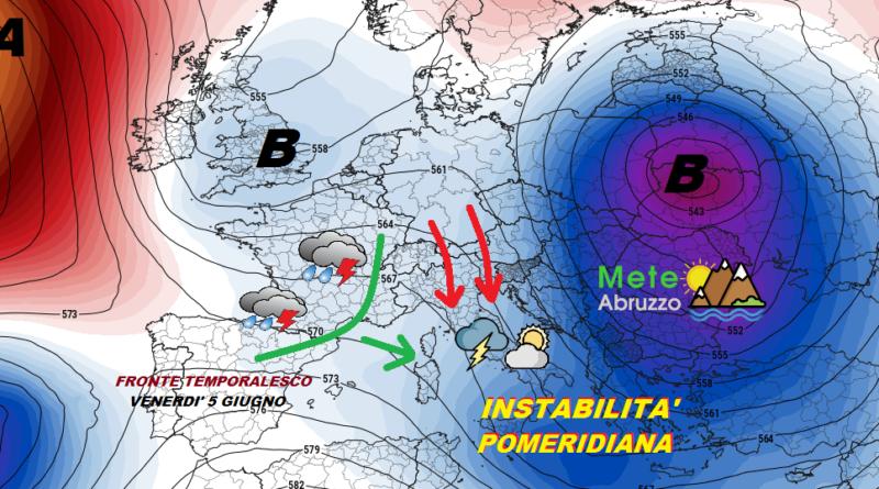 Previsioni meteo OGGI e DOMANI 3-4 Giugno 2020 – Stabilità ancora lontana e nuovi temporali! – Meteo Abruzzo