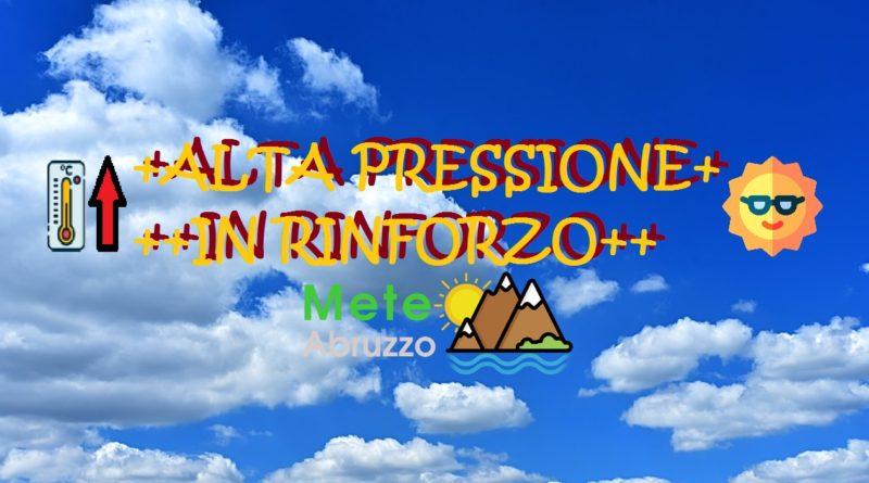 Previsioni meteo OGGI e DOMANI 22-23 Giugno 2020 – Rinforza l'alta pressione con clima via via più estivo! – Meteo Abruzzo