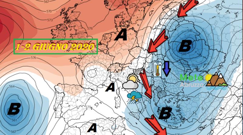 Previsioni meteo OGGI e DOMANI 1-2 Giugno 2020 – Temperature in rialzo ed instabilità dietro l'angolo! – Meteo Abruzzo