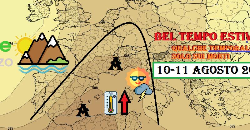 Previsioni meteo OGGI e DOMANI 10-11 Agosto 2020: Estate piena con solo qualche temporale all'interno  – Meteo Abruzzo