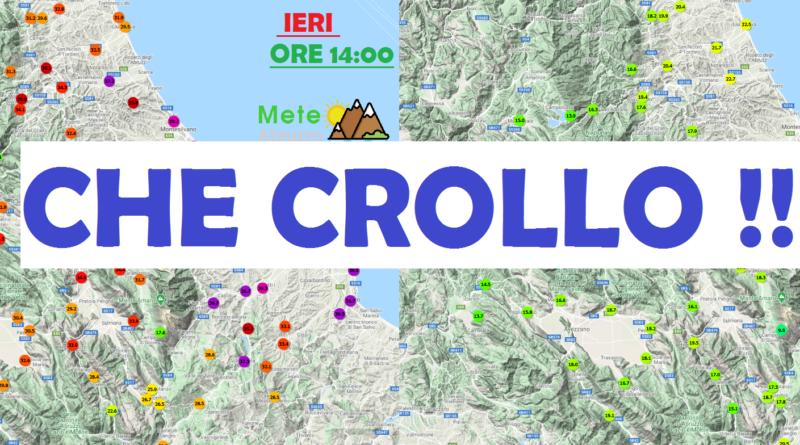 DRASTICO CALO TERMICO in Abruzzo: oltre 15°C in meno in 24 ore! – Meteo Abruzzo
