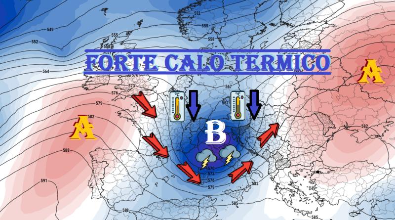 STOP AL GRANDE CALDO: da domani forte calo termico con il ritorno di temporali! |  Meteo Abruzzo