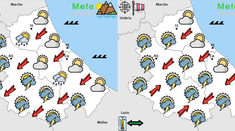 METEO OGGI e DOMANI 15-16 Settembre 2020: ancora caldo ma con instabilità pomeridiana all'interno! – Meteo Abruzzo