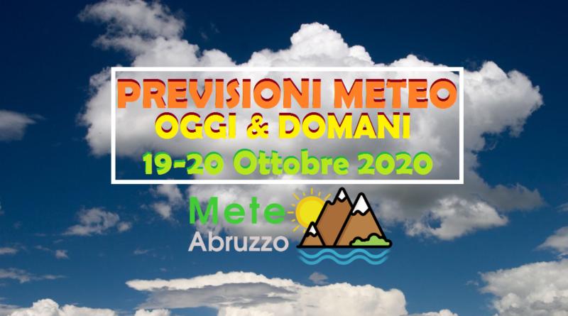 Previsioni OGGI e DOMANI 19-20 Ottobre 2020: alta pressione in arrivo e temperature in aumento! – Meteo Abruzzo