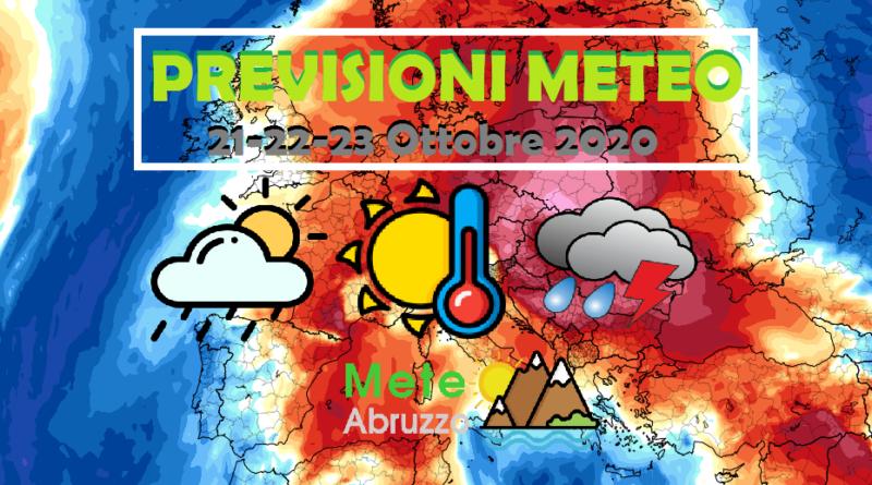 PREVISIONI METEO 21-22-23 Ottobre 2020: alta pressione, bel tempo e forti escursioni termiche! – Meteo Abruzzo