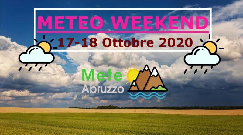 METEO WEEKEND 17-18 Ottobre 2020: generale variabilità con temperature sotto la media! – Meteo Abruzzo