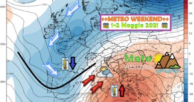 METEO WEEKEND 1-2 Maggio 2021: tra sole, nuvole, locali rovesci e sabbia in sospensione – Meteo Abruzzo