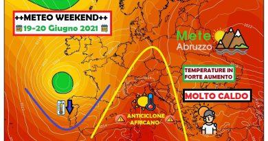 METEO WEEKEND 19-20 Giugno 2021: l'ESTATE alza la voce con la prima ONDATA DI CALORE della stagione – Meteo Abruzzo