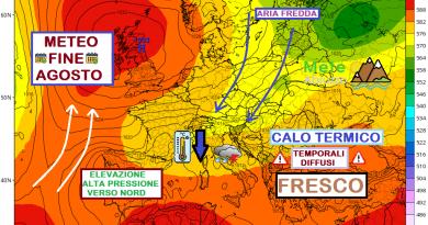 COLPO ALL'ESTATE: in arrivo FRESCO e TEMPORALI fino a fine mese – Meteo Abruzzo